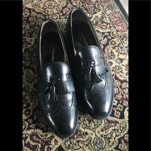 Johnson and Murphy black loafer Sz 9 made in USA
